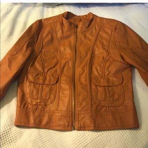 Orange leather jacket 🧥